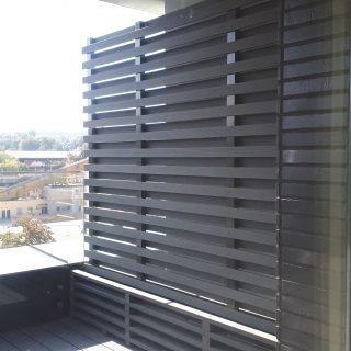 Balkonų pertvaros iš BIO kompozito profilių