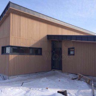 Terasos ir fasado įrengimas prieplaukos pastate